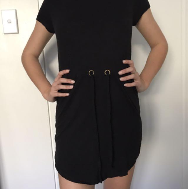 Minkpink Black Skater Dress