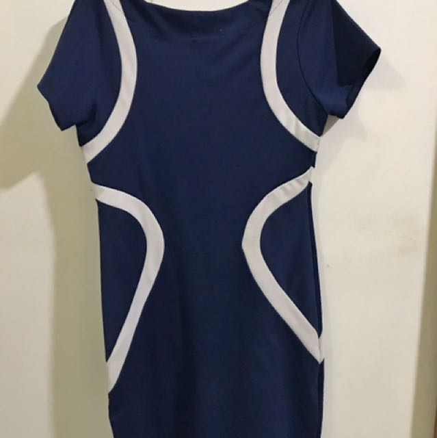 Navy Blue Office Dress