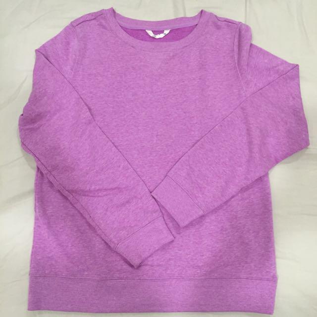 Net粉紫色內刷毛 大學T