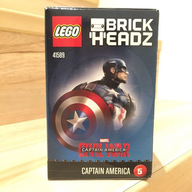 《NEW丹麥現貨》LEGO Brick Headz 系列 美國隊長 41589