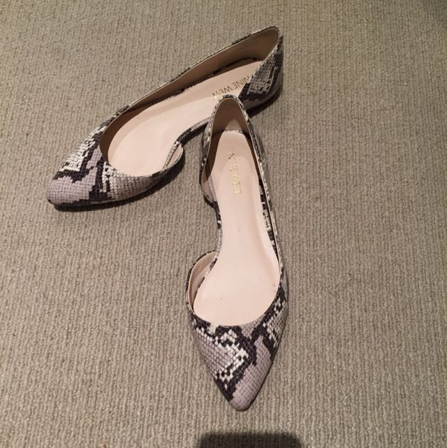 Nine West Snake Print Pointed Toe Flats