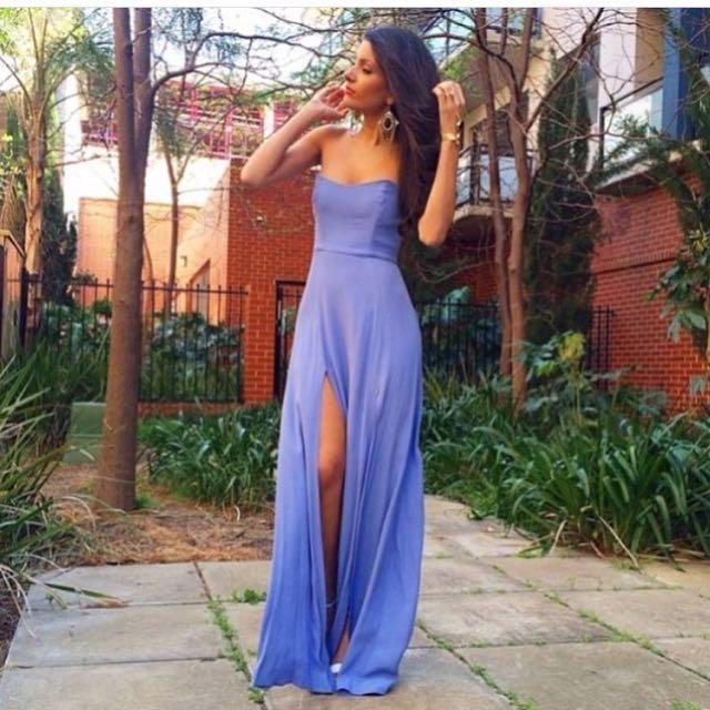 Nookie Encore Maxi Dress In Cornflower Blue