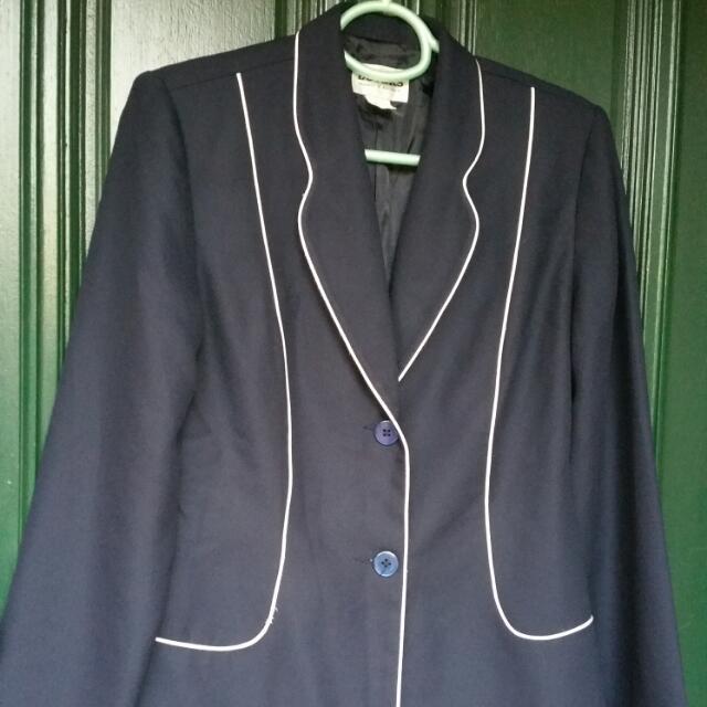 Size 10/12 Old School Navy Blazer