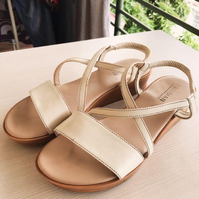 Parisian Tan & White Sandals