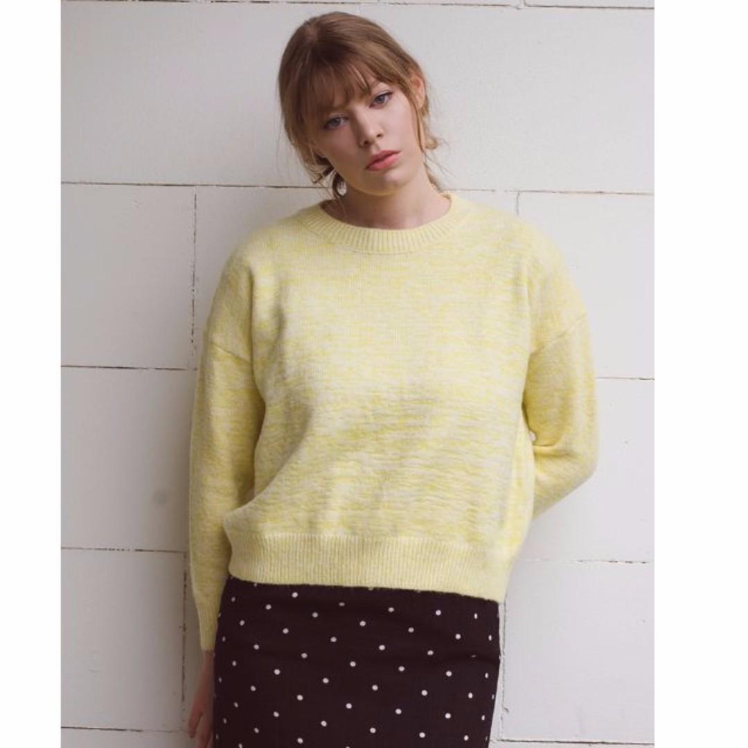 Pastel yellow sweater