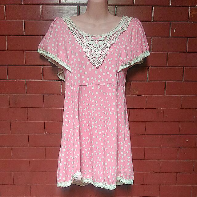 Polka Pink Dress