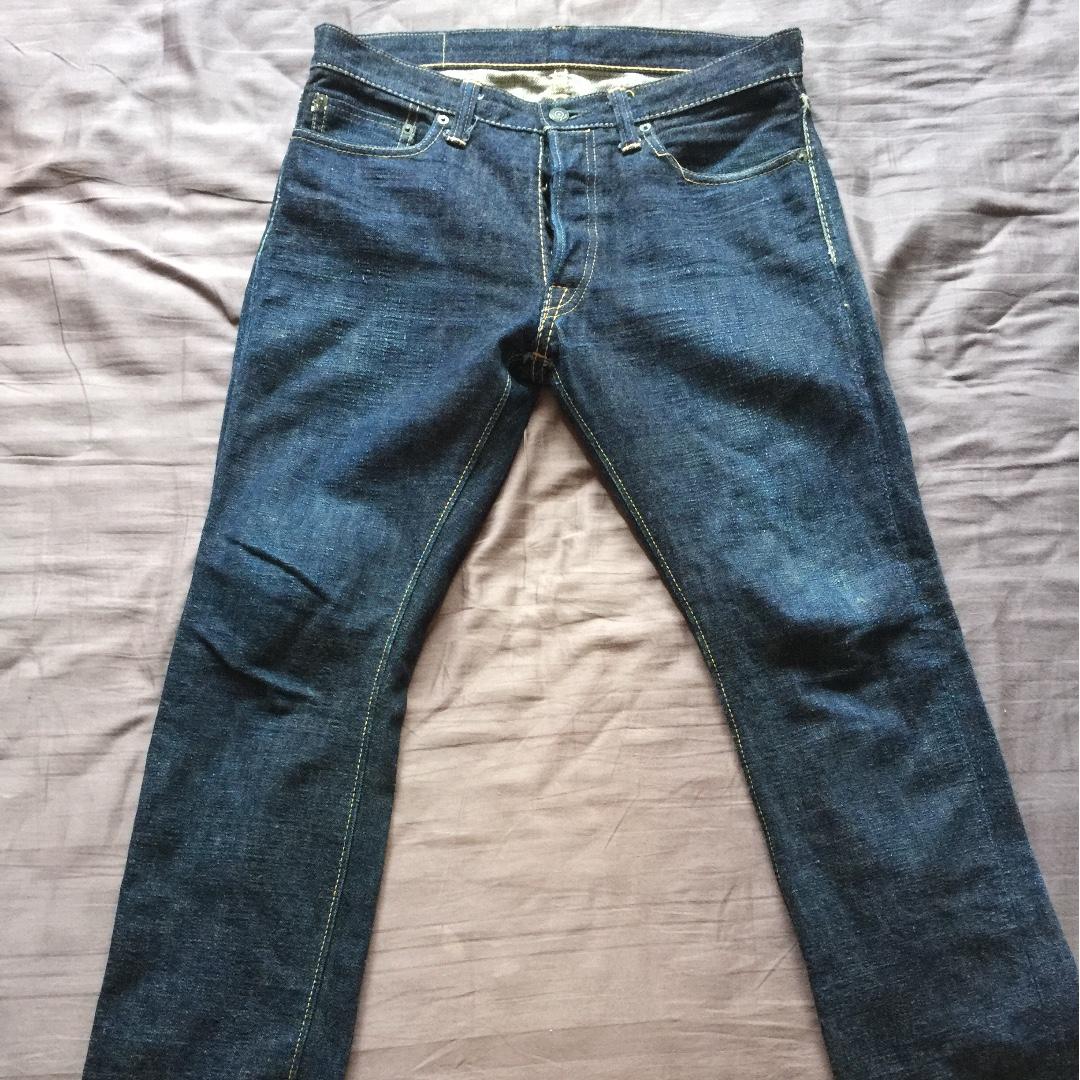 Pure blue Japan jeans
