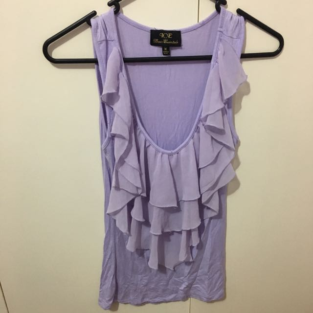 Purple Frilled Top