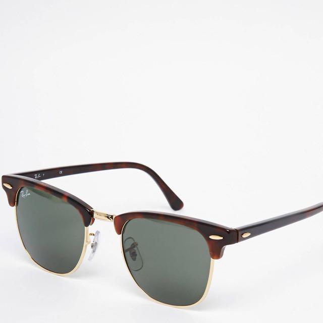 Ray Ban Club master Sunglasses Gold Tortoise