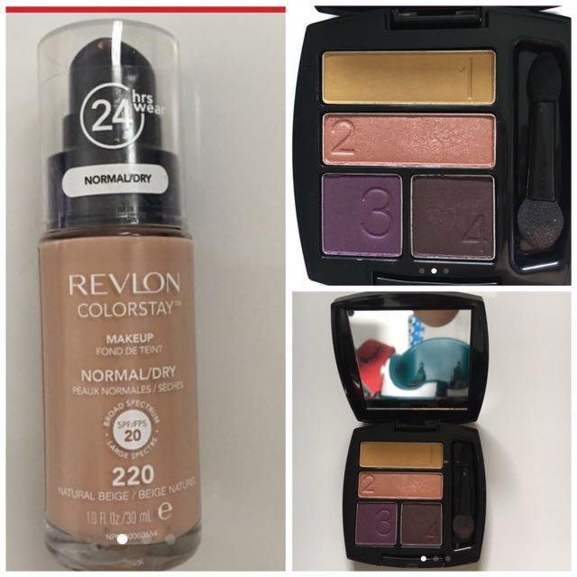 Revlon Colorstay And Avon True Color Eyeshadow