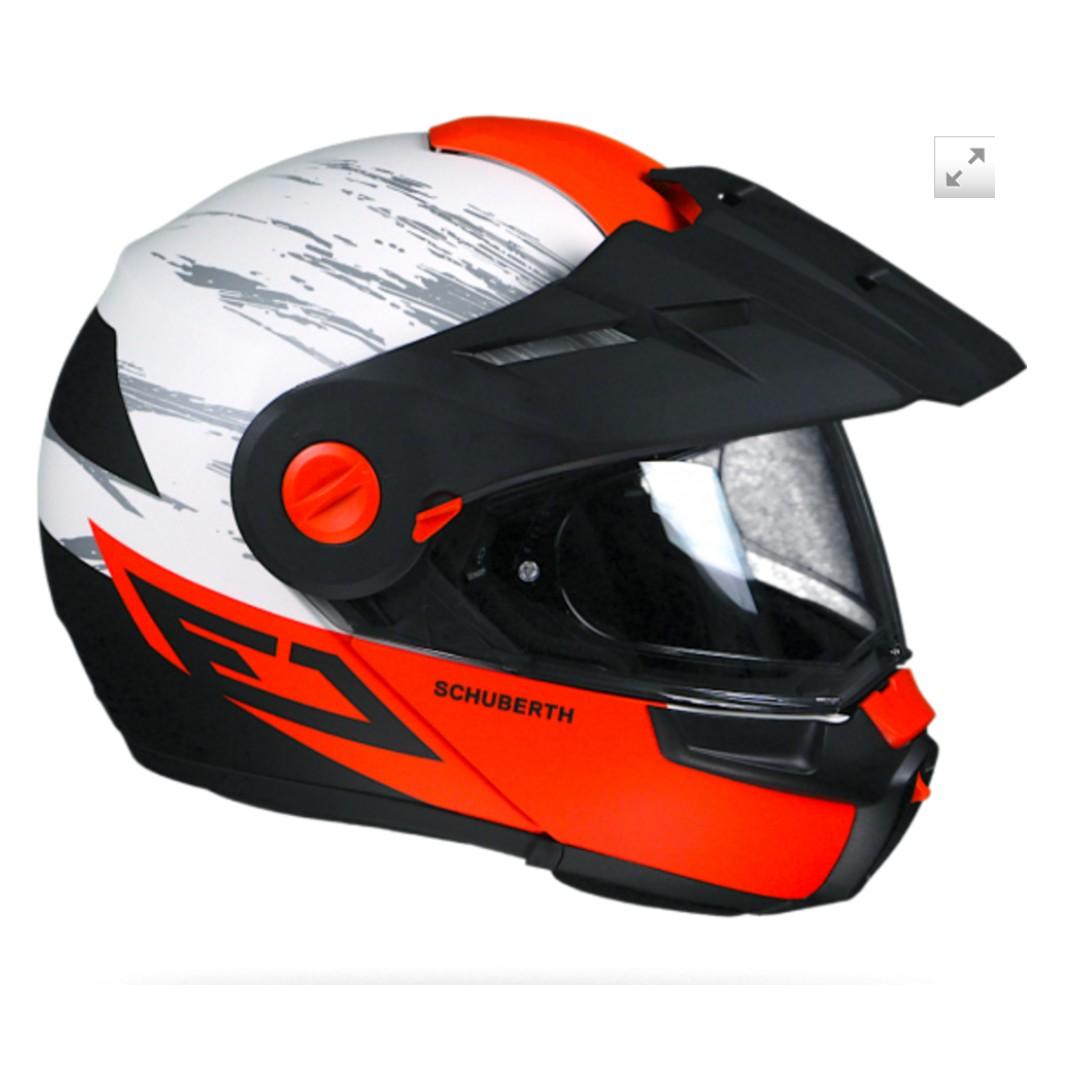 330e2b4b Schuberth E1 Crossfire modular flip up adventure helmet, Sports ...