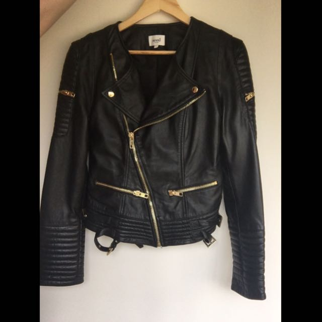 Seed Heritage Leather Biker Jacket