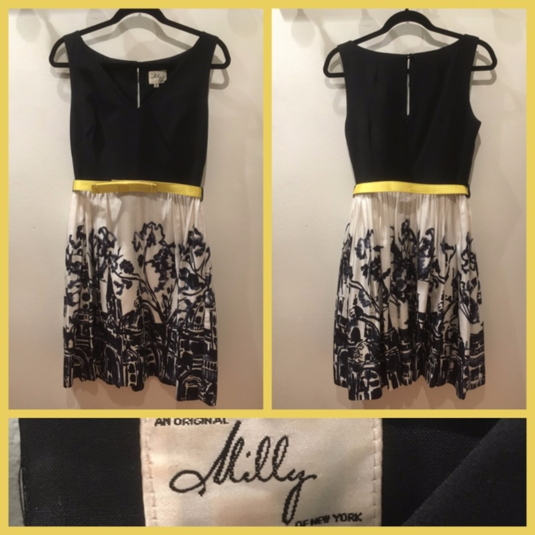 Size 6 - Milly New York - belted dress