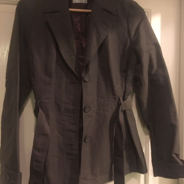 Target Hip Length Trench Coat. Size 10
