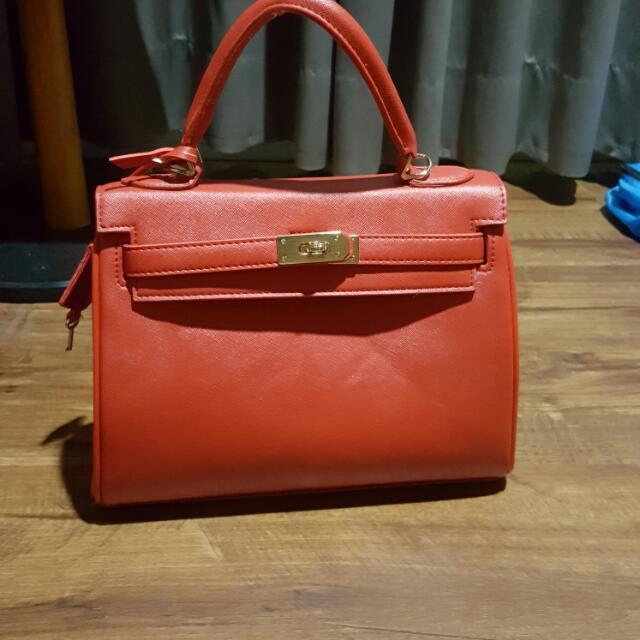 Tas Hermes Kw Warna Merah