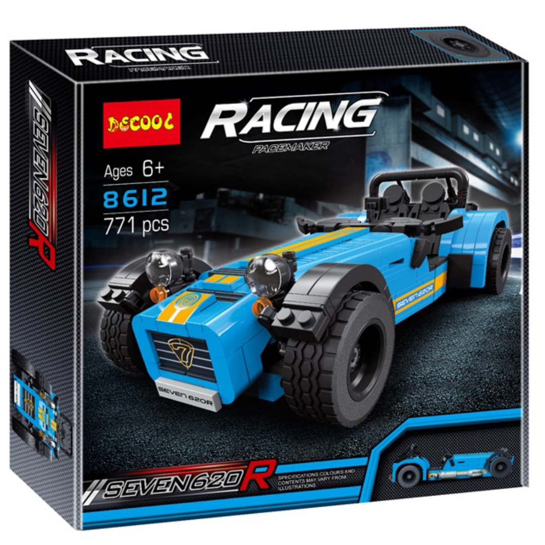 Technic Blue Caterham Seven 620R With LEGO Compatible