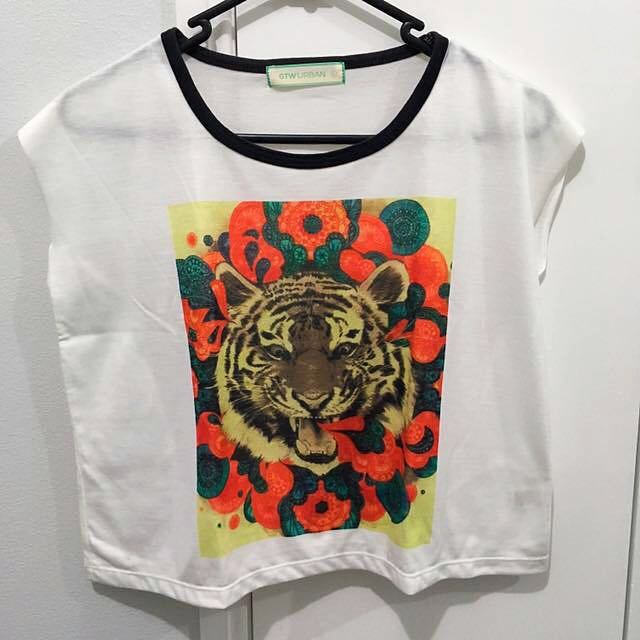Tiger Print Crop Top
