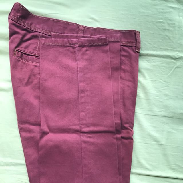 Topman Maroon Skinny Chinos Pants, Men\'s Fashion, Clothes on Carousell
