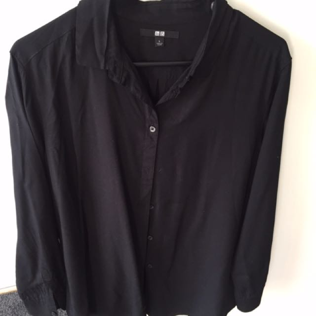 Uniqlo Black Button Down Shirt