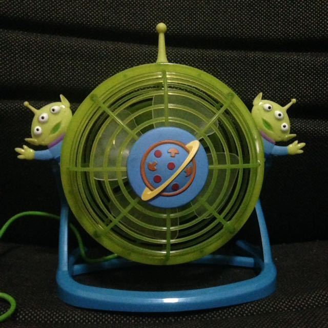 Usb Fan Little Green Man Alien Toy Story Kipas Mini Portable Usb Lighting Bisa Nyala