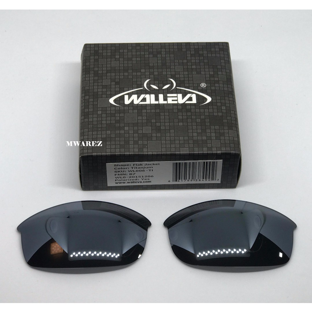 26b7c7fe42 Walleva Flak Jacket Titanium POLARIZED Replacement Lenses for Oakley ...