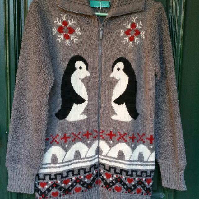 Winter Grey Long Wool Knit Size 10/12