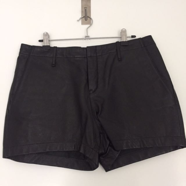 Witchery Leather Shorts Size 12