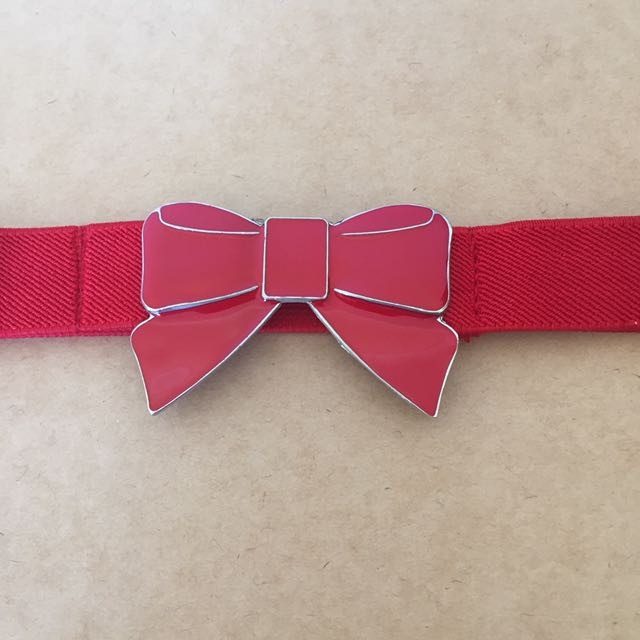 Women's Elastic Bow Detail Belt