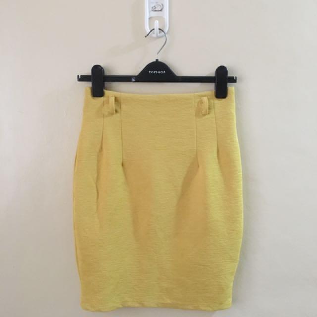 Yellow Bandage Skirt