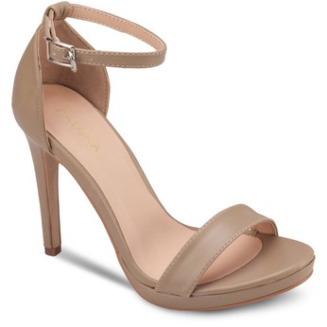 Zalora Basic High Heel Sandals With Ankle Strap