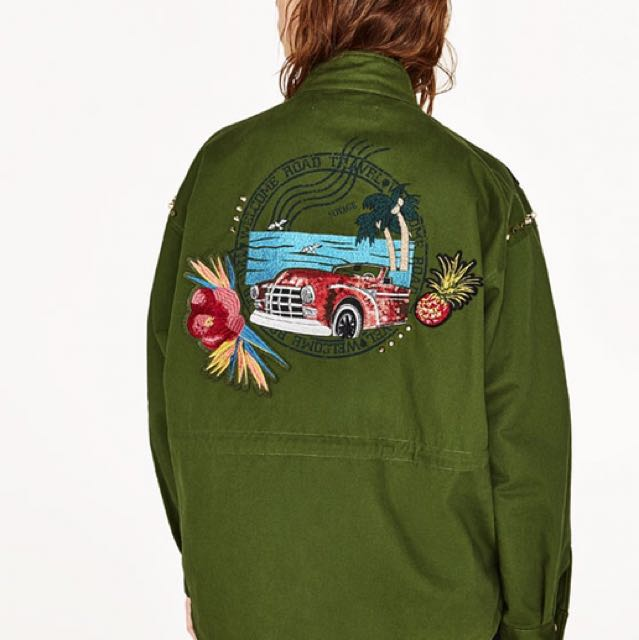 Zara Parka With Embroidery