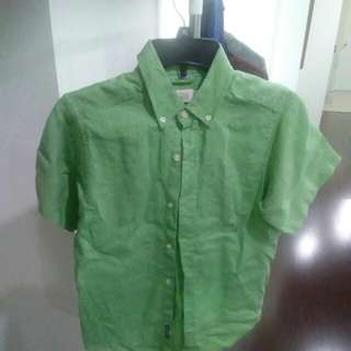 Green Dress Shirt Size Large 10/12 Children Place
