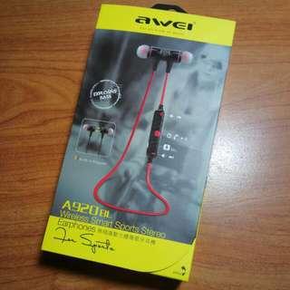 awel 正版 磁吸 運動藍牙耳機