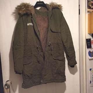 冬季出清 超保暖 綿羊毛內襯 Parka 軍裝式夾克/大衣
