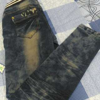 🚚 #三百元牛仔 牛仔鬆緊長褲M