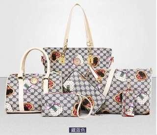 shoulder bag women's handbag in messenger bags purse 6 sets