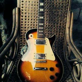 Cheetah Les Paul Copy (Archtop)- Nego