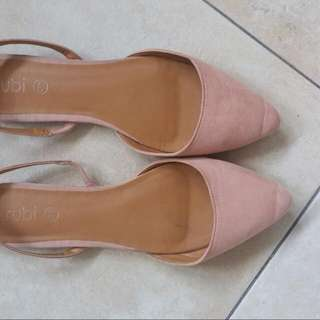 Rubi Nude/salmon Flat Sandals Size40