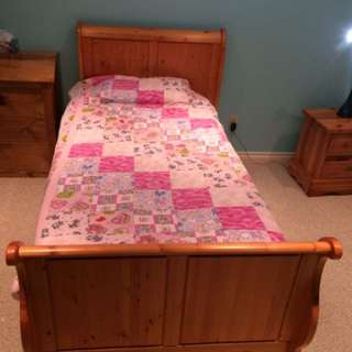 Twin Bed With Box Spring And Mattress