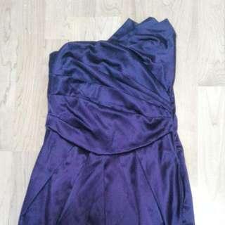 Asymmetrical Purple Cocktail Dress