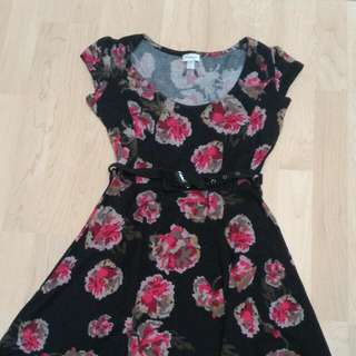 Black And Floral Dress From Dynamite