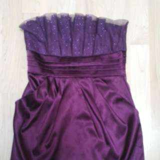 Purple Sparkly Cocktail Dress With POCKETS