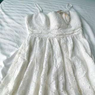 Cute White Lace SunDress Size 6