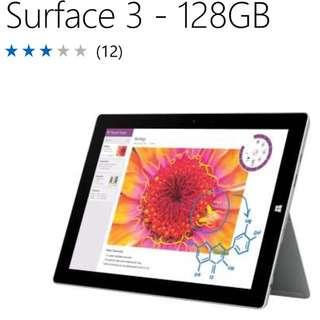 Surface 3  128gb
