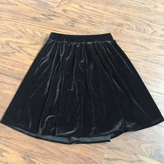 American Apparel Velvet Skirt