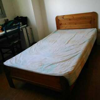 實木單人床組