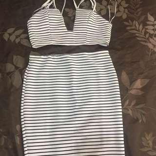 Size 12 Women's Crop And Skirt Set