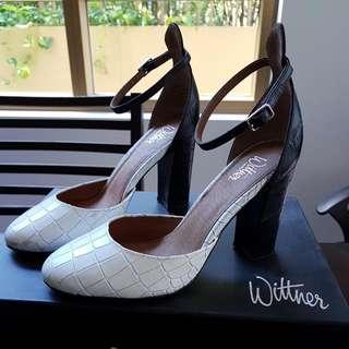 Wittner Kurta Black And White Heels 35