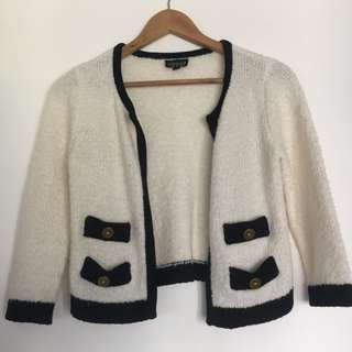 SALE Topshop Wool Cardigan - Chanel style