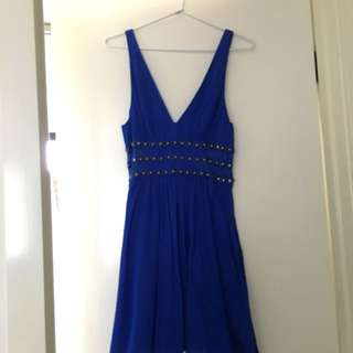 Electric Blue 'Bluejuice' Mini Dress - Size 10